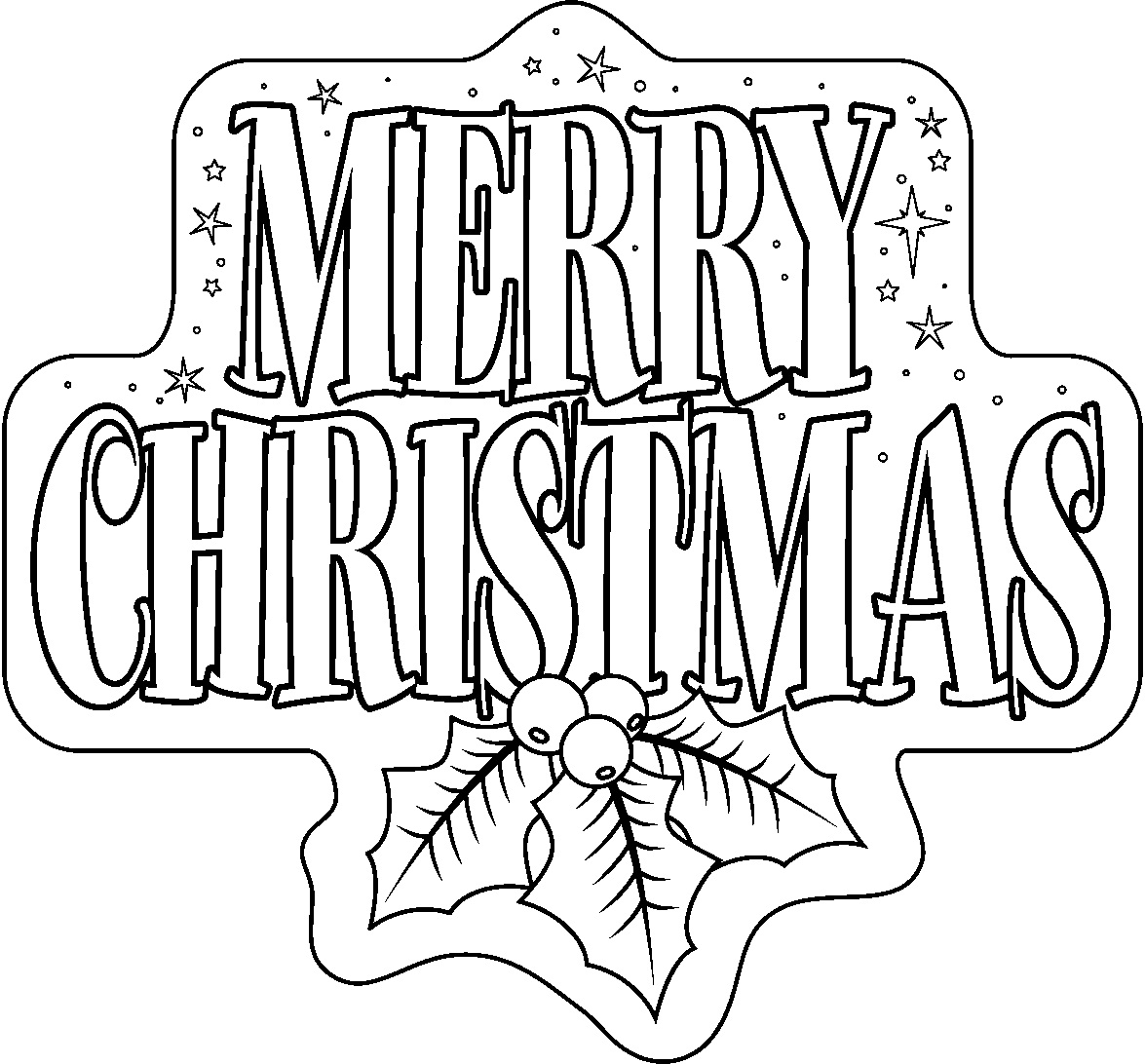 coloring pages christams - photo#44