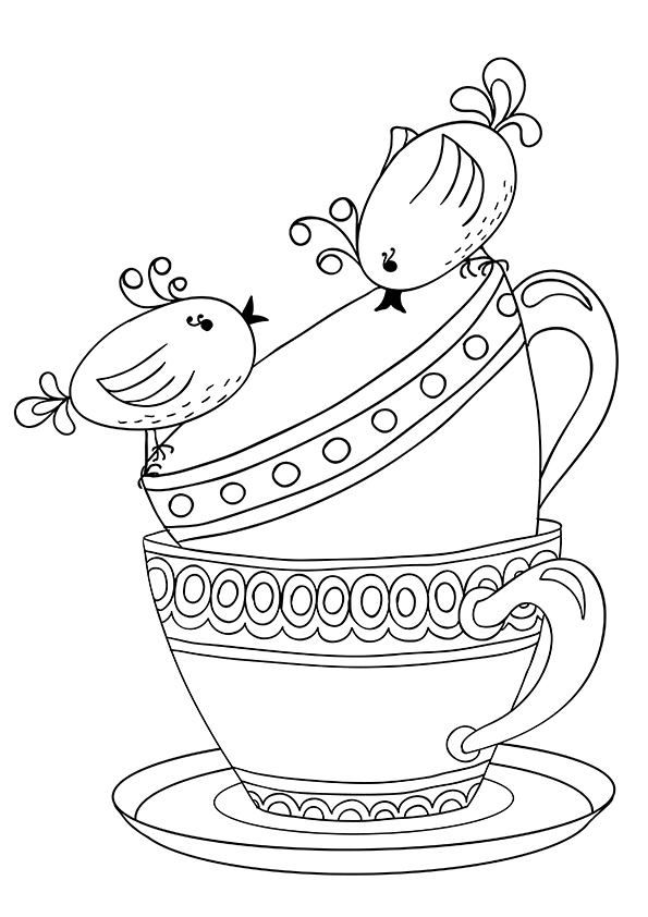 printable tea cup coloring pages - photo#28