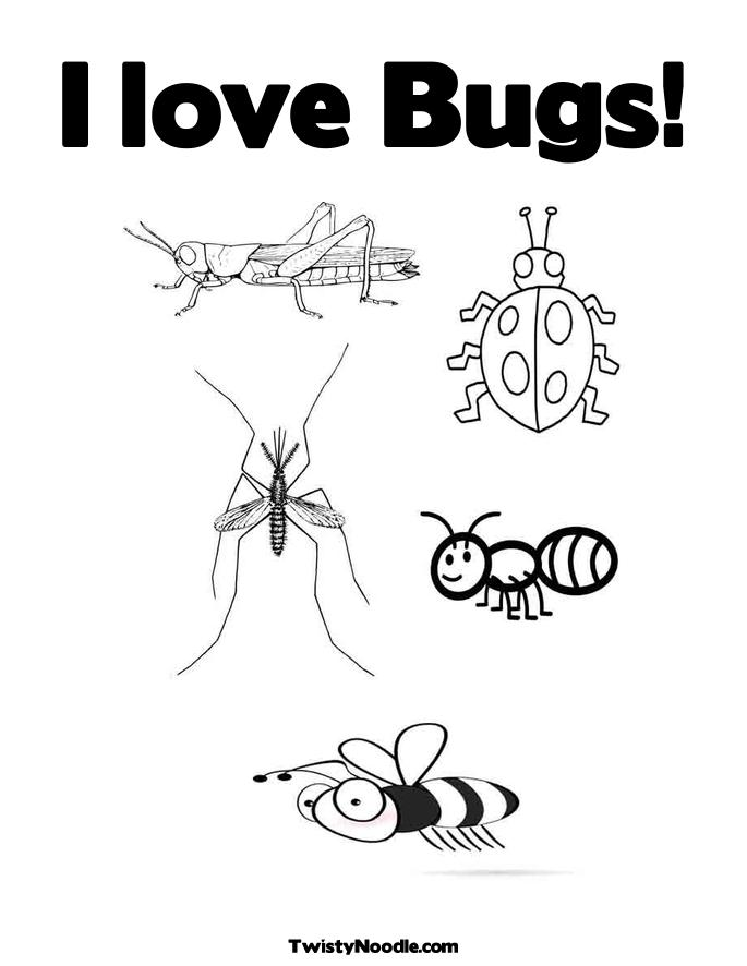 spring insects coloring pages - photo #30