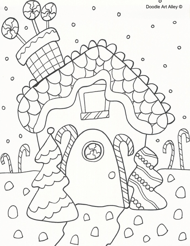 Christmas gingerbread coloring