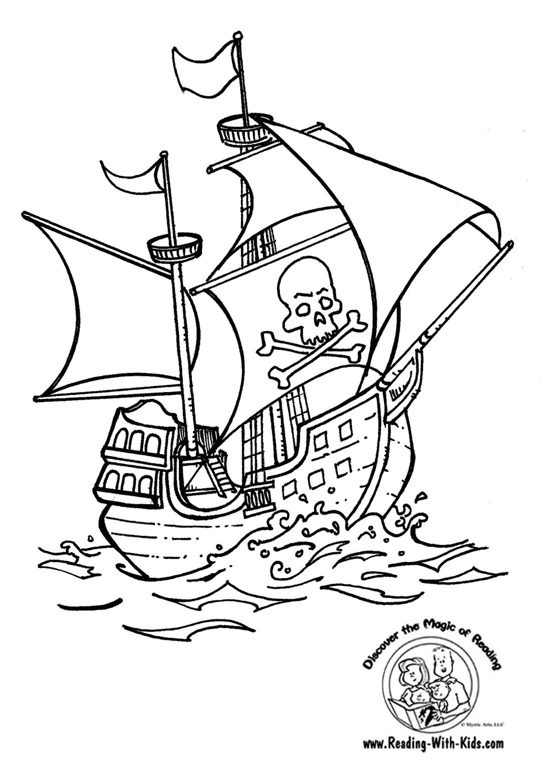 pirate coloring pages to print - photo#42