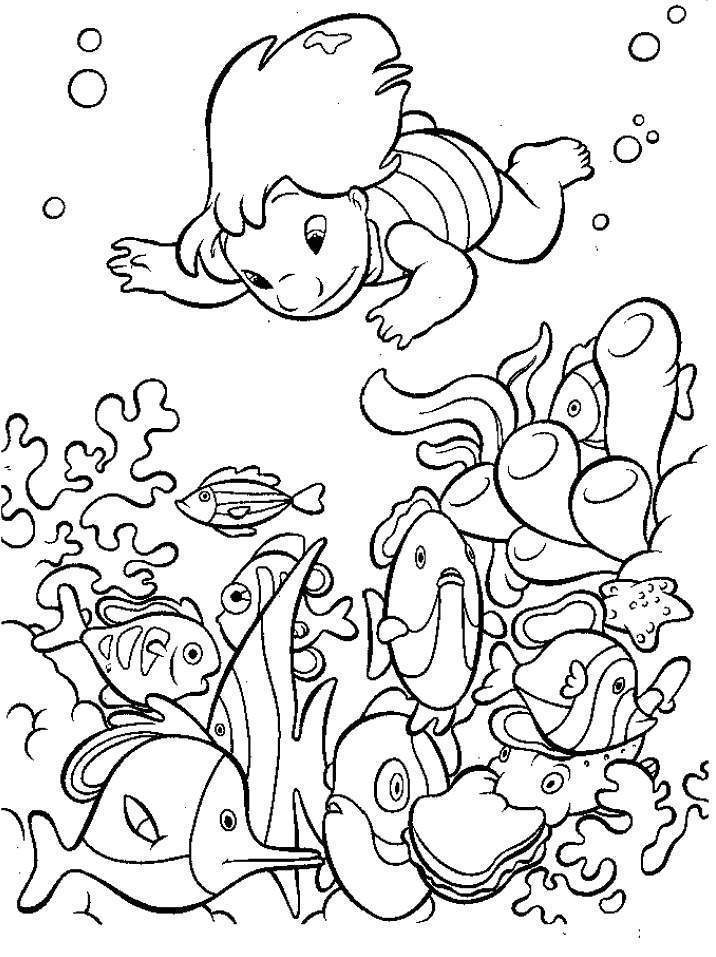 Coloring Page Drinking Water - Coloring Home |Aquatic Animals Coloring Pages