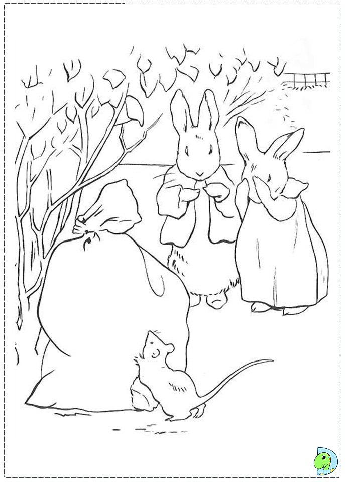 Peter rabbit coloring pages to download and print for free