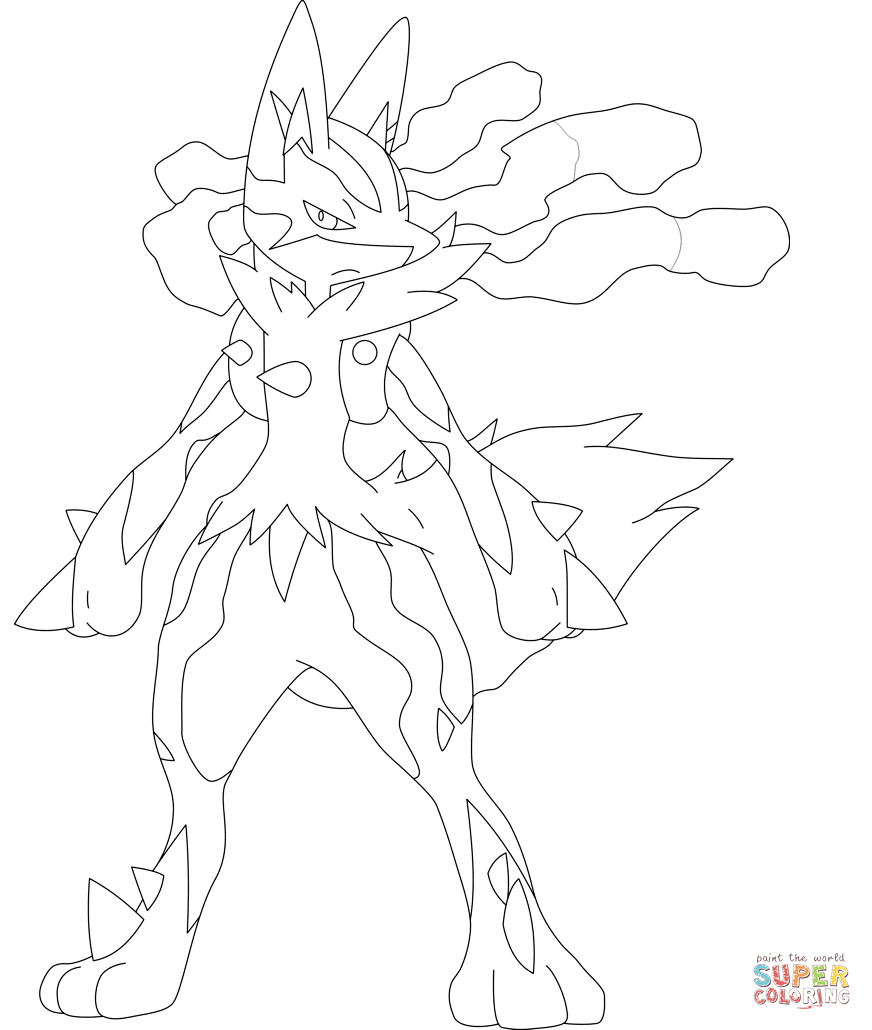 lucario coloring pages and print for free
