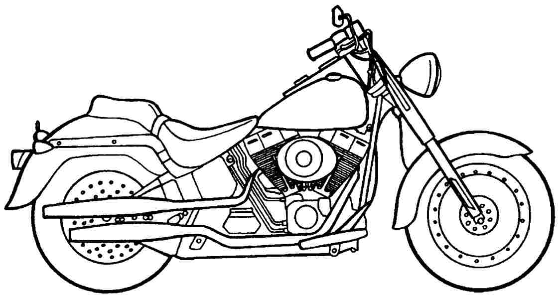 Motorbike Coloring Pages To Download And Print For Free