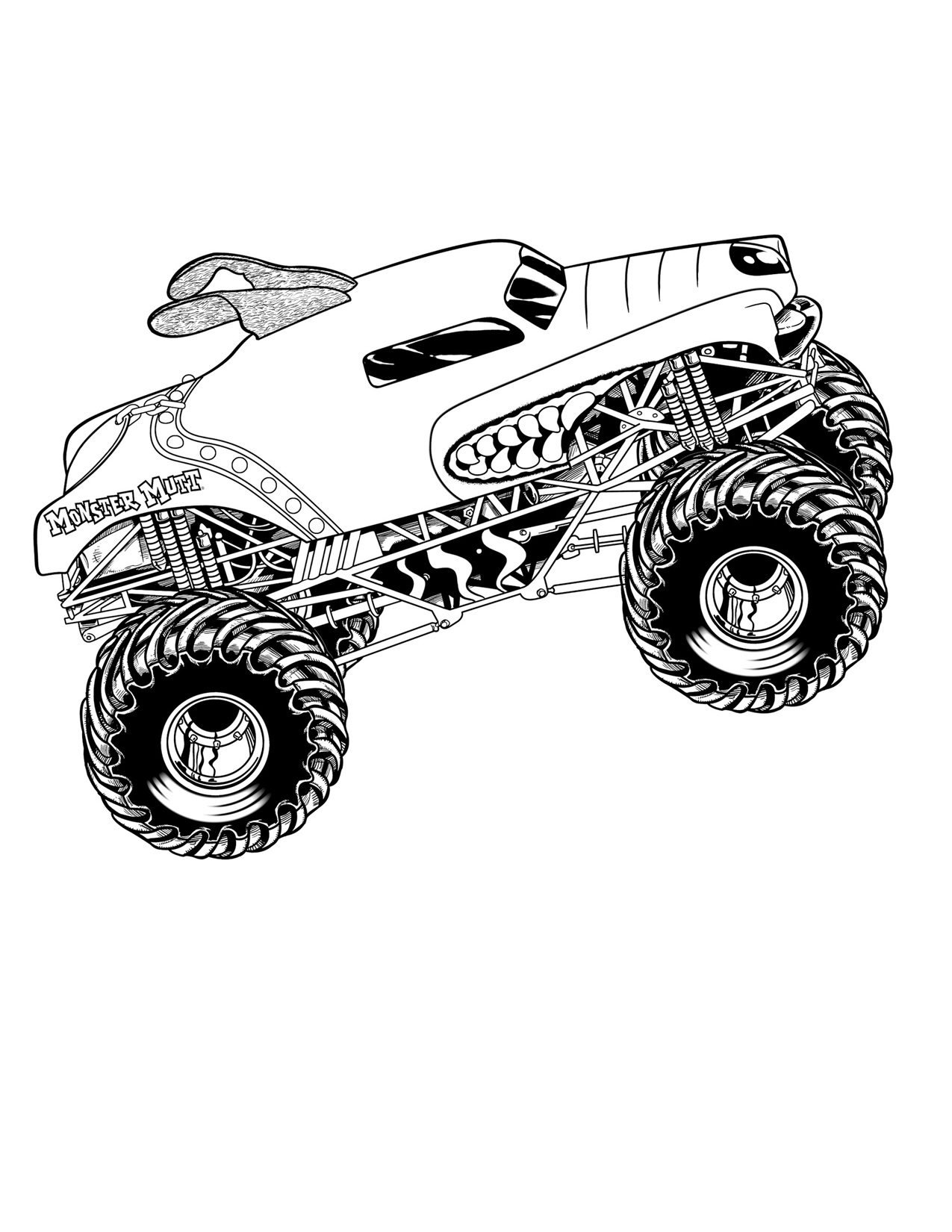 Monster truck coloring pages to