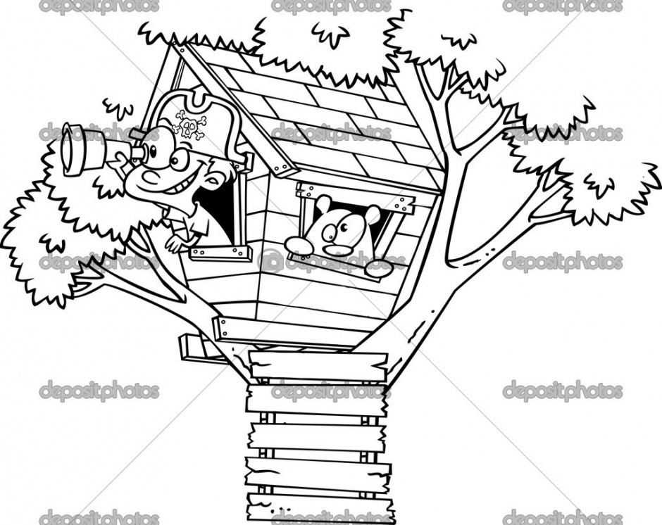 free magic treehouse coloring pages - photo#10