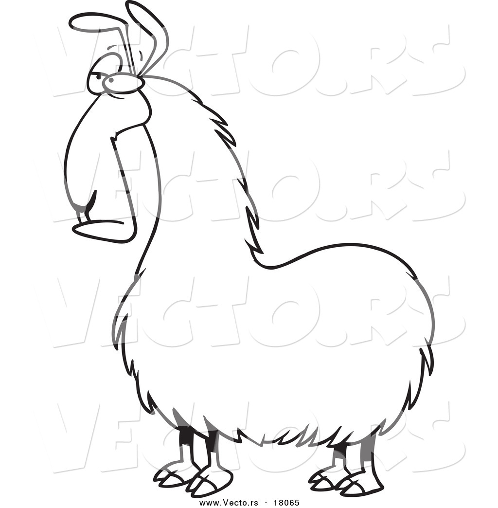 coloring pages llamas - photo#17