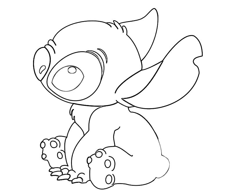 Lilo and stitch coloring pages to download and print for free - Dessin de stitch ...