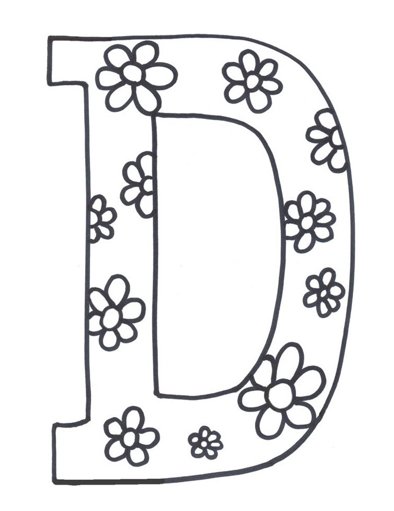Letter d coloring pages to download and print for free for Alphabet pages to color