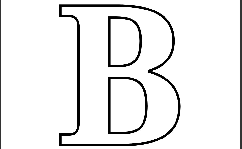 printable letter b outline print letter b letter b coloring pages to and print for free 955