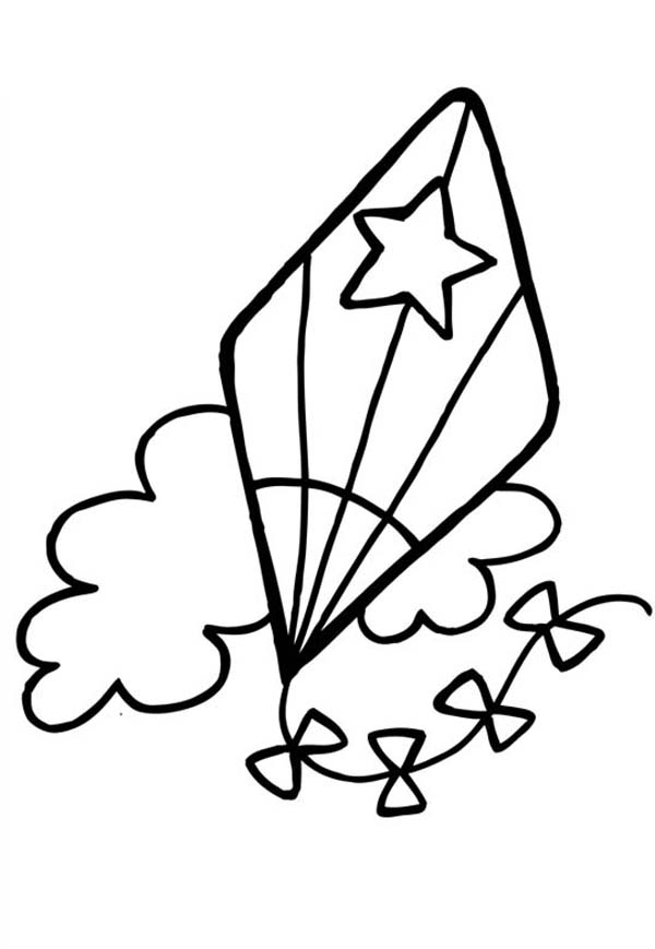 coloring pages of kites kite coloring pages to and print for free - Kite Coloring Page
