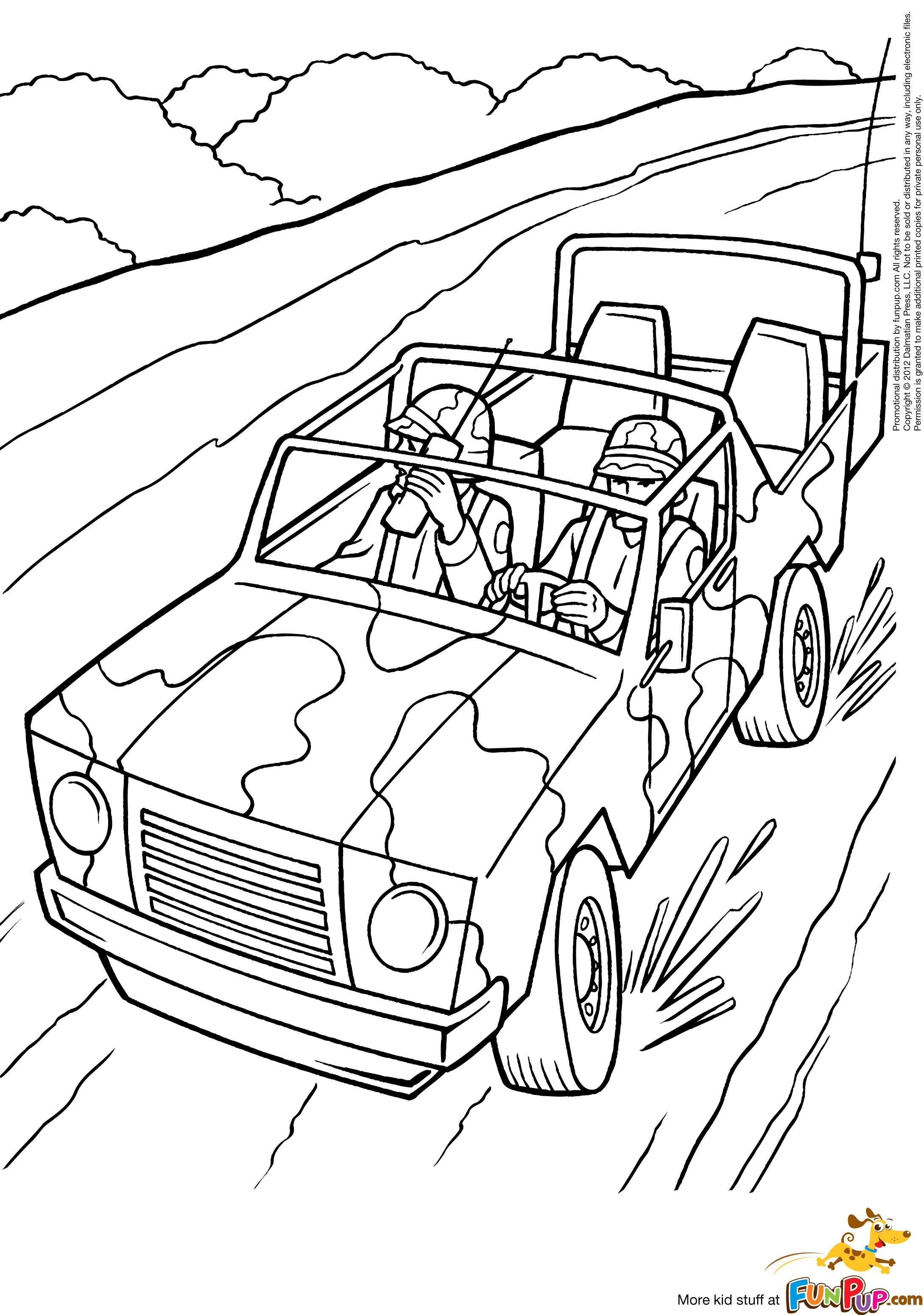 Jeep coloring pages to download