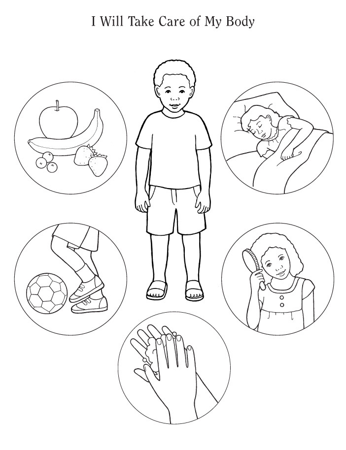 free human body coloring pages - photo#30