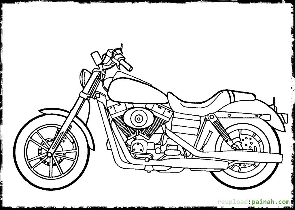 harley coloring pages - photo#10