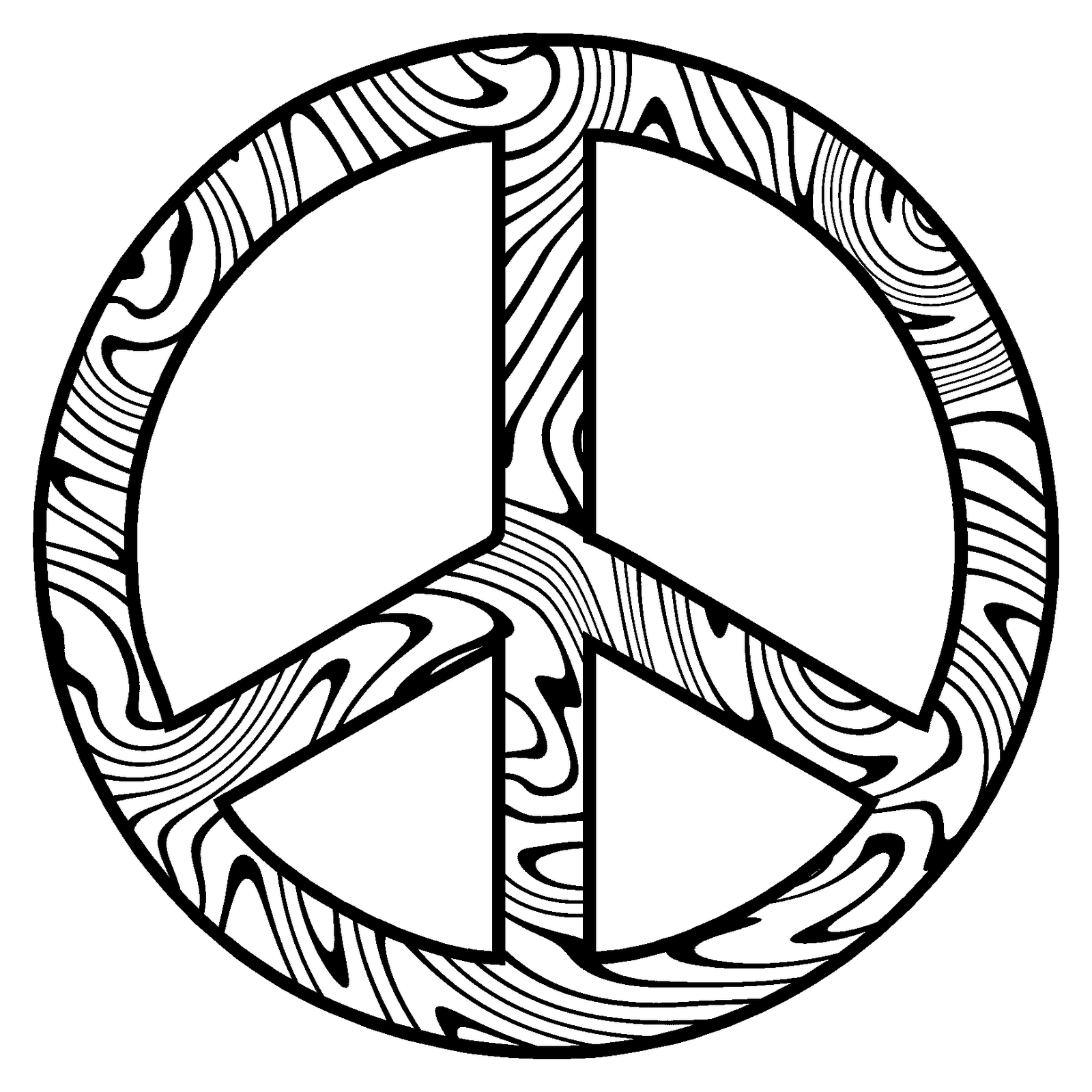 Peace coloring pages to download and print for free