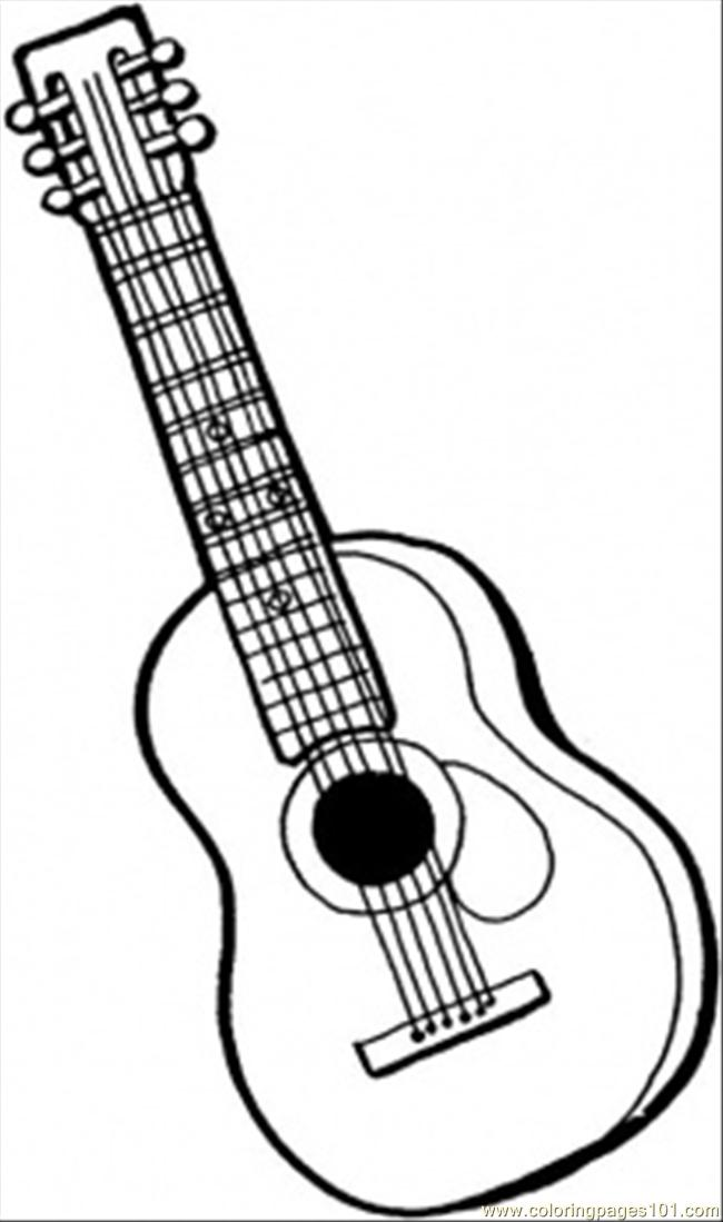 printable coloring pages guitar - photo#3