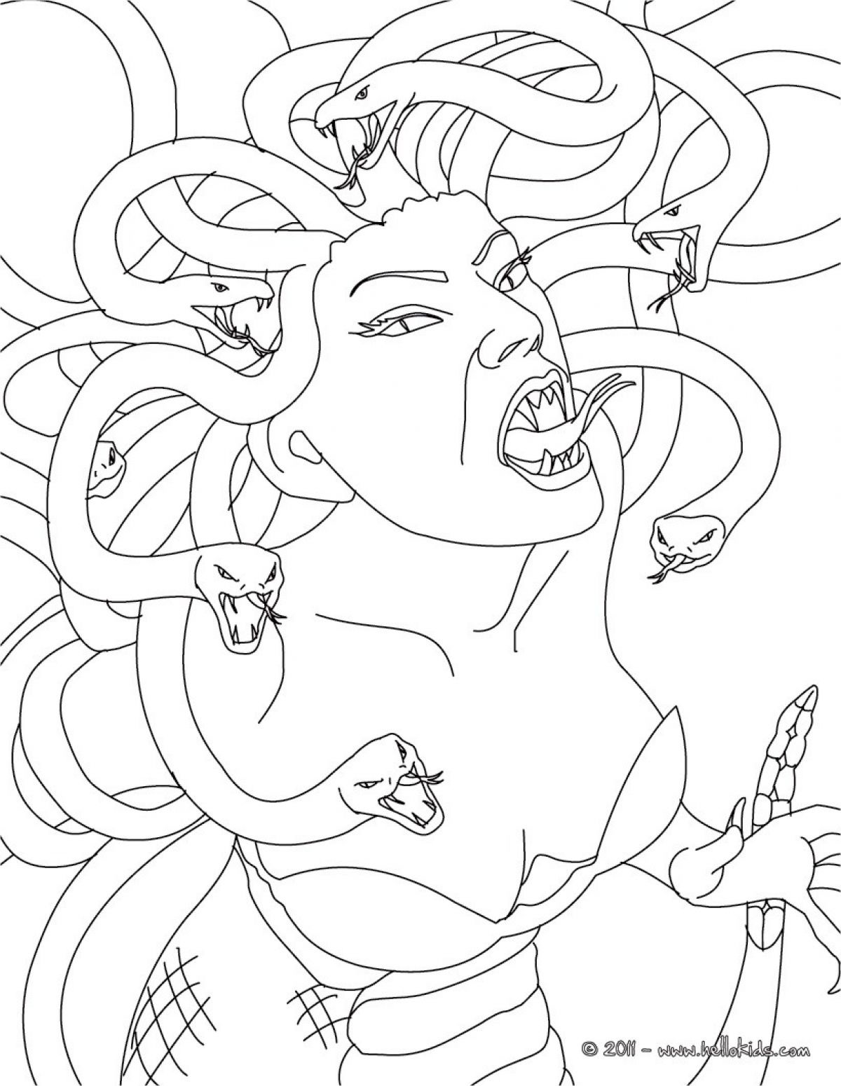 CHIMERA the monstruous fire-breathing creature coloring page. This ... | 1550x1200
