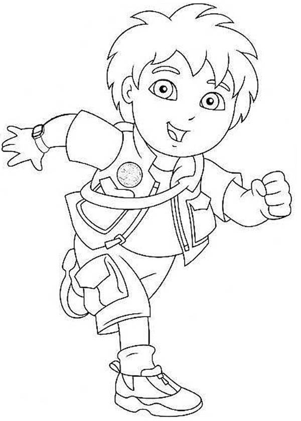 Go Diego Go Coloring Pages To Download And Print For Free
