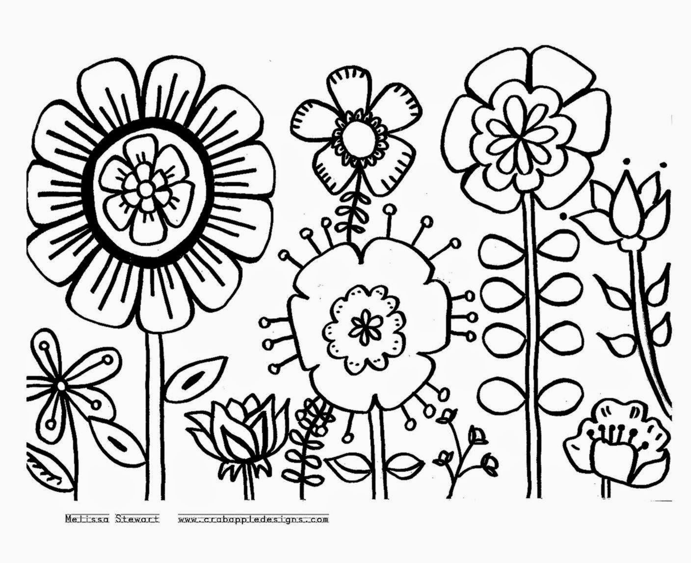 Coloring: Flower Garden Coloring Pages To Download And Print For Free