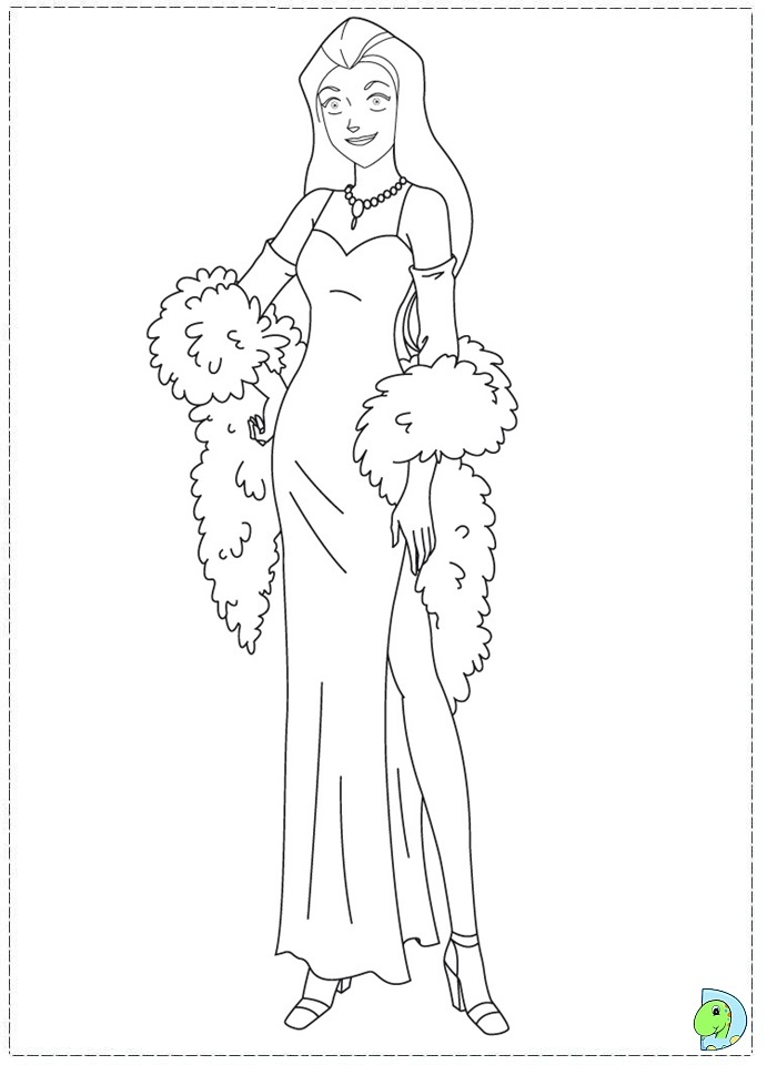 coloring pages of totally spies - photo#22