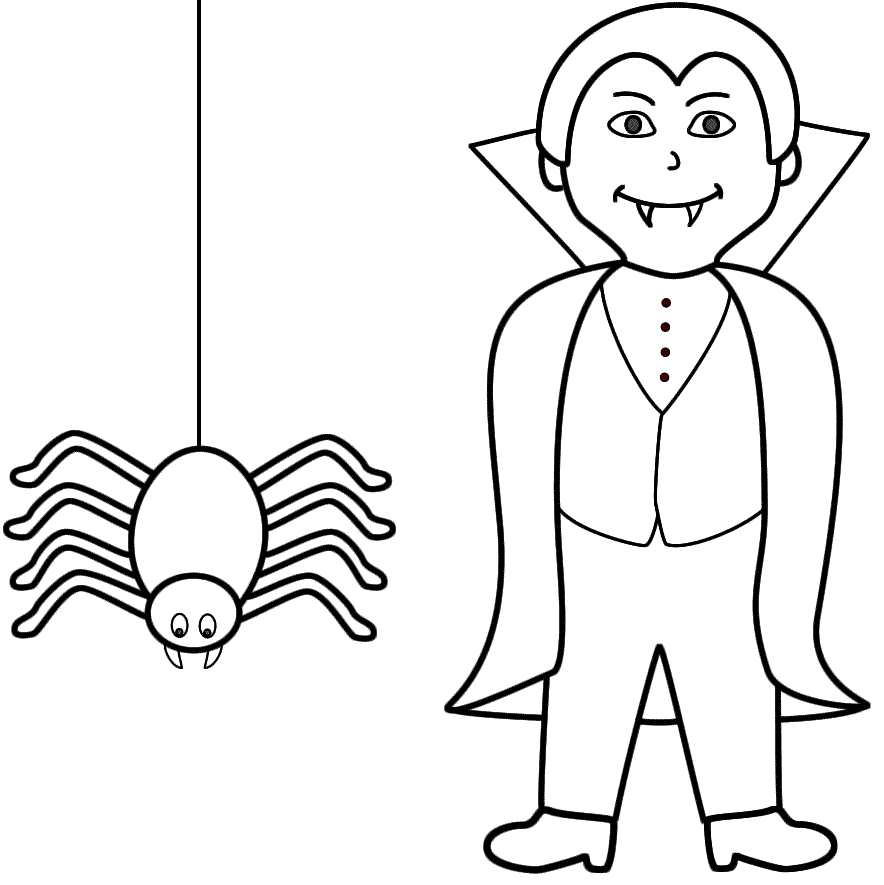 Vampire coloring pages to download and print for free