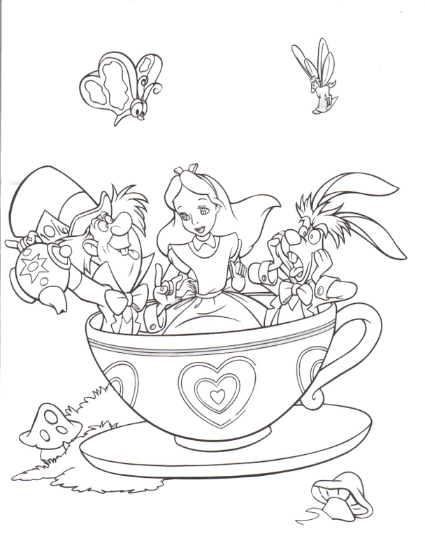 Disneyland coloring pages to download and print for free