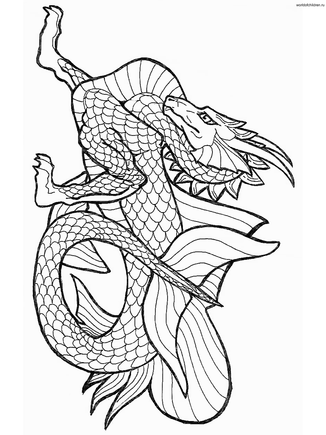 Printable coloring pages dragons - Chinese Dragon Coloring Pages