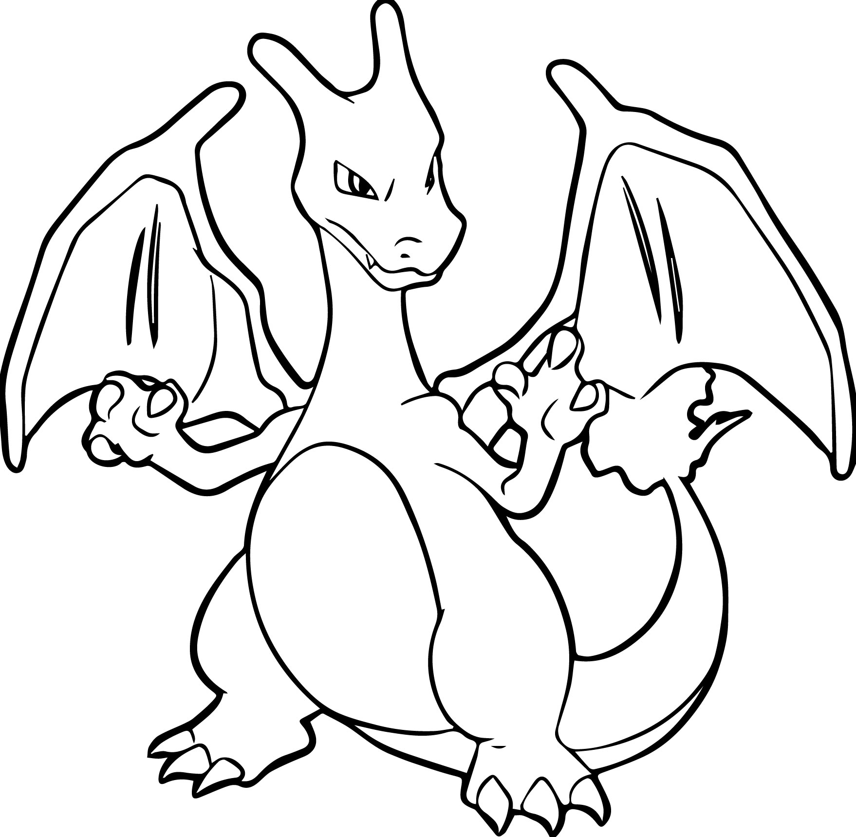 Charizard coloring pages to download and print for free
