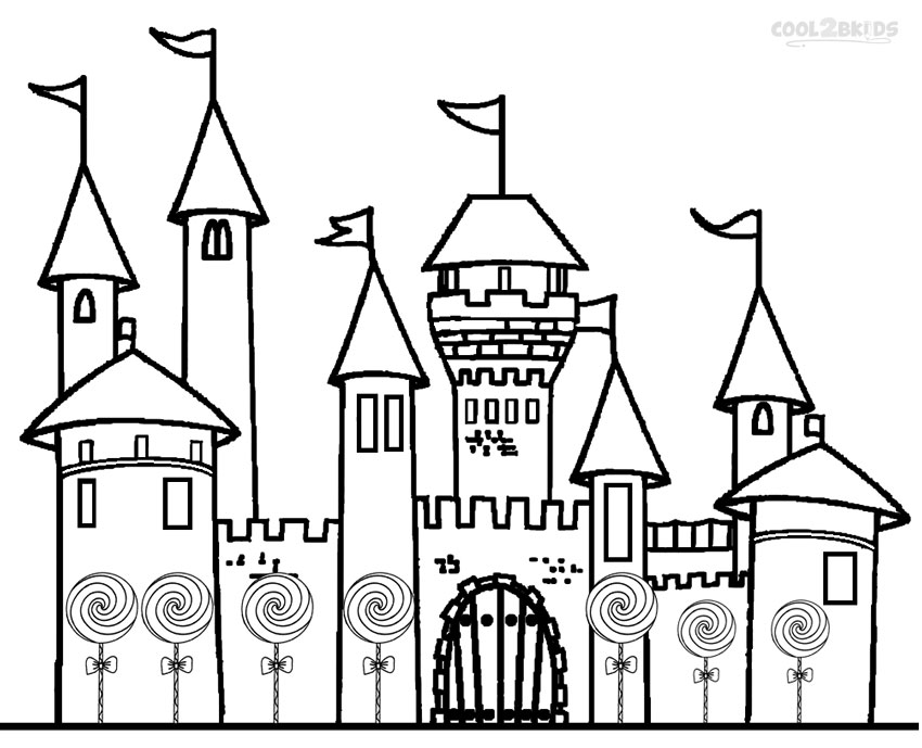 Castle coloring pages to download