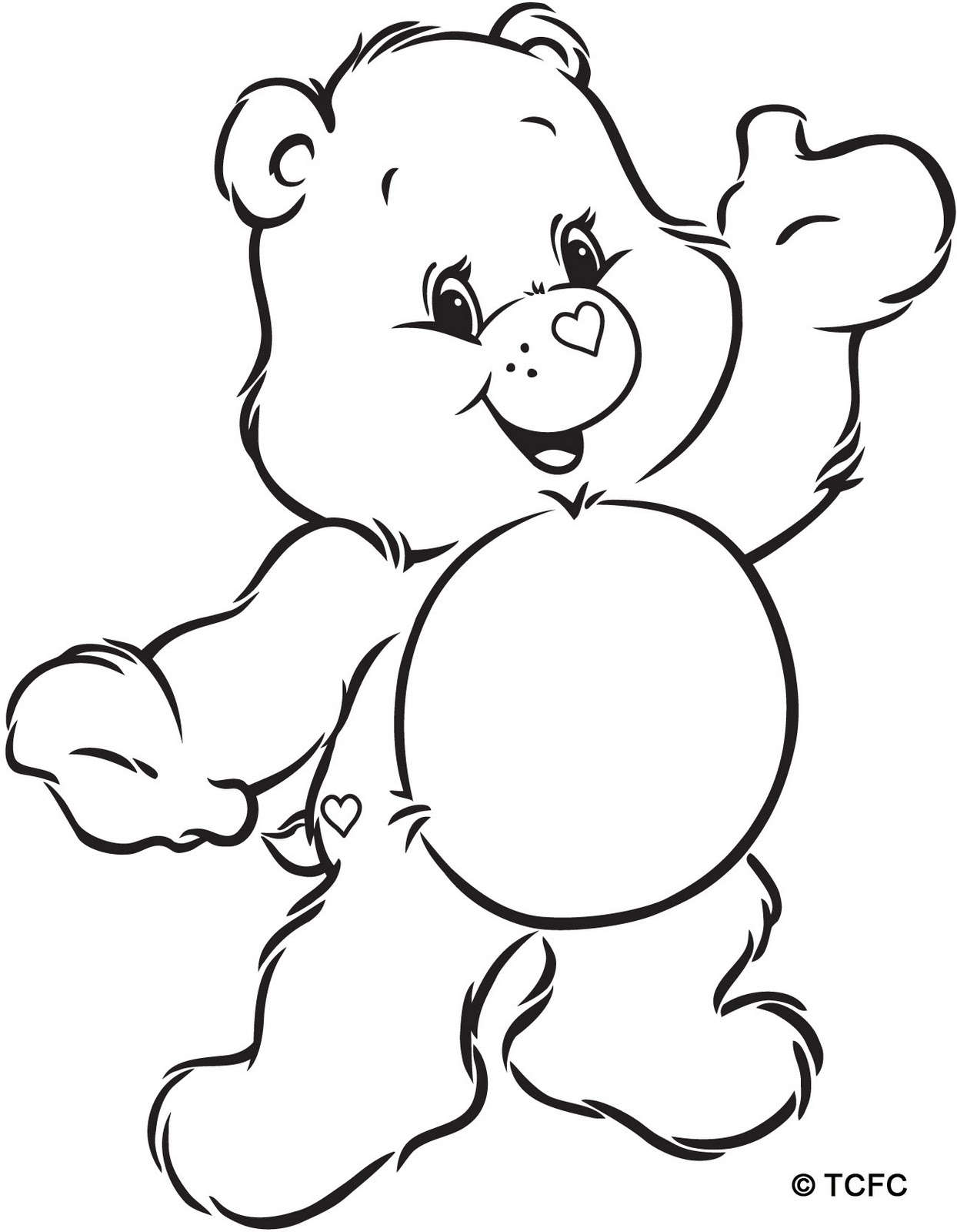 Care bear coloring pages to download and print for free for Free bear coloring pages