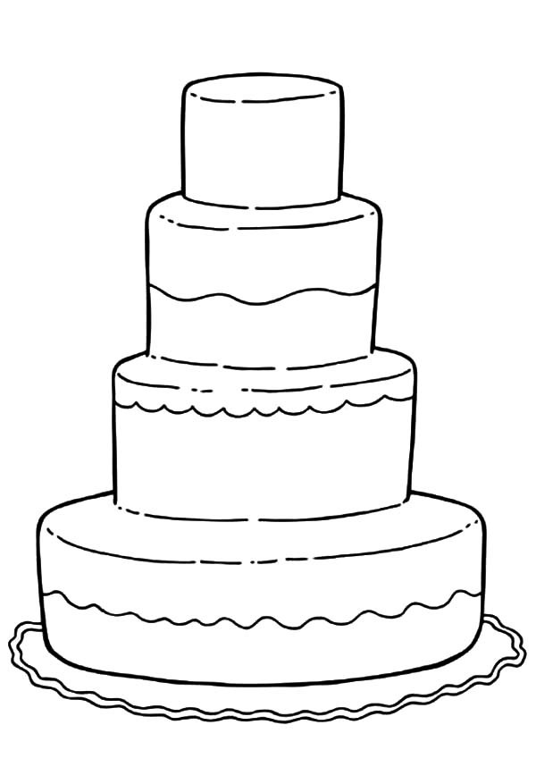 cake coloring pages - photo#35