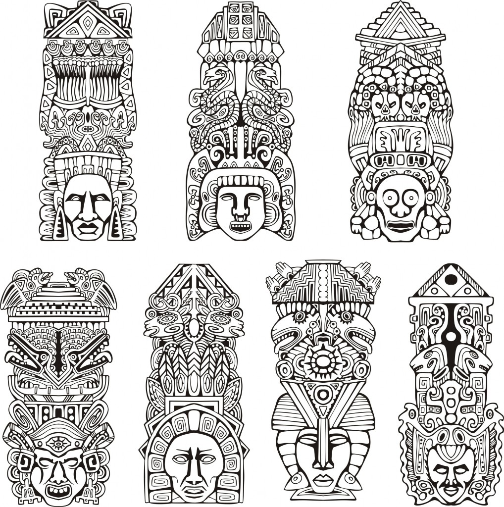 aztec owl coloring pages - photo#27