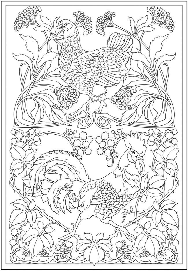 Art Nouveau Coloring Pages To Download And Print For Free Nouveau Coloring Pages