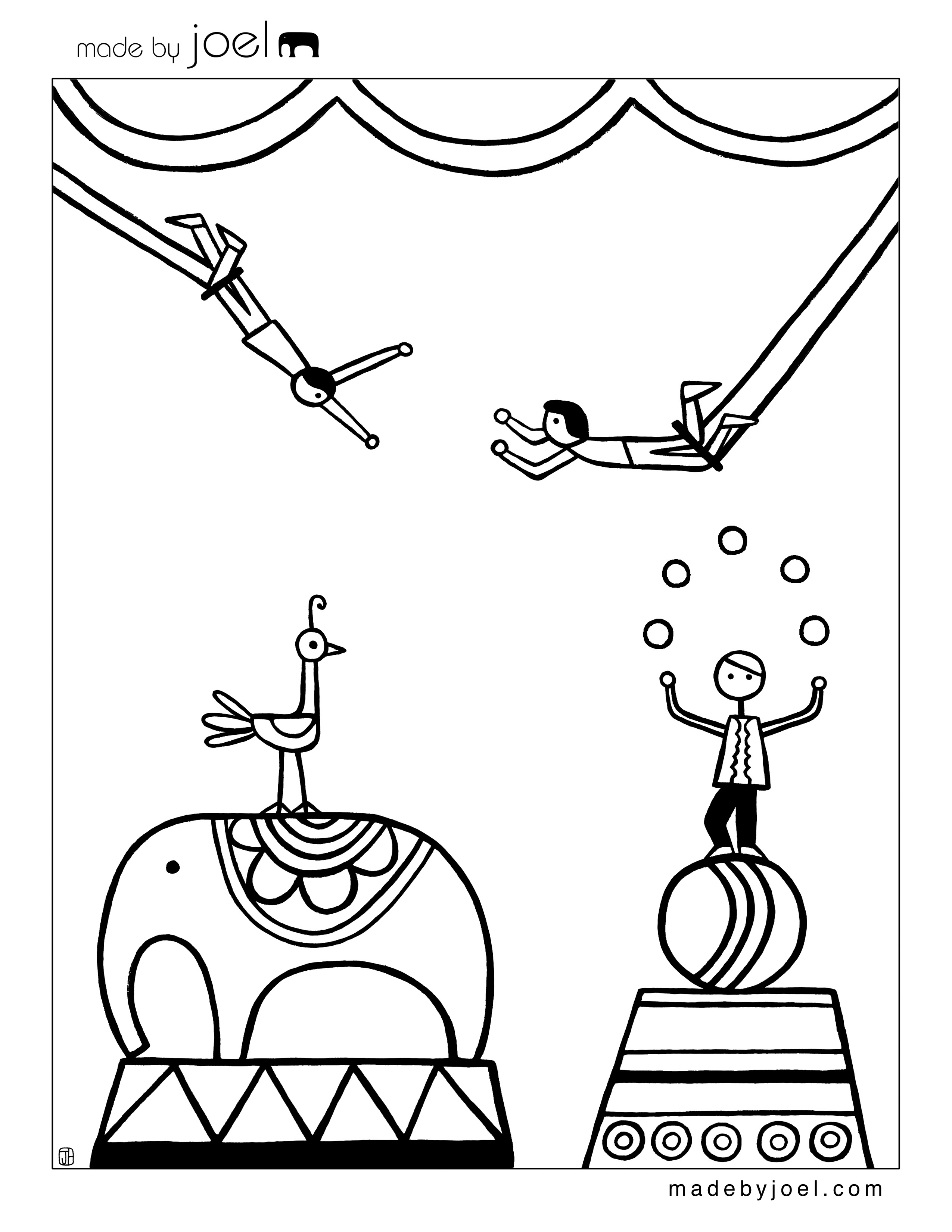 Trapeze coloring pages download