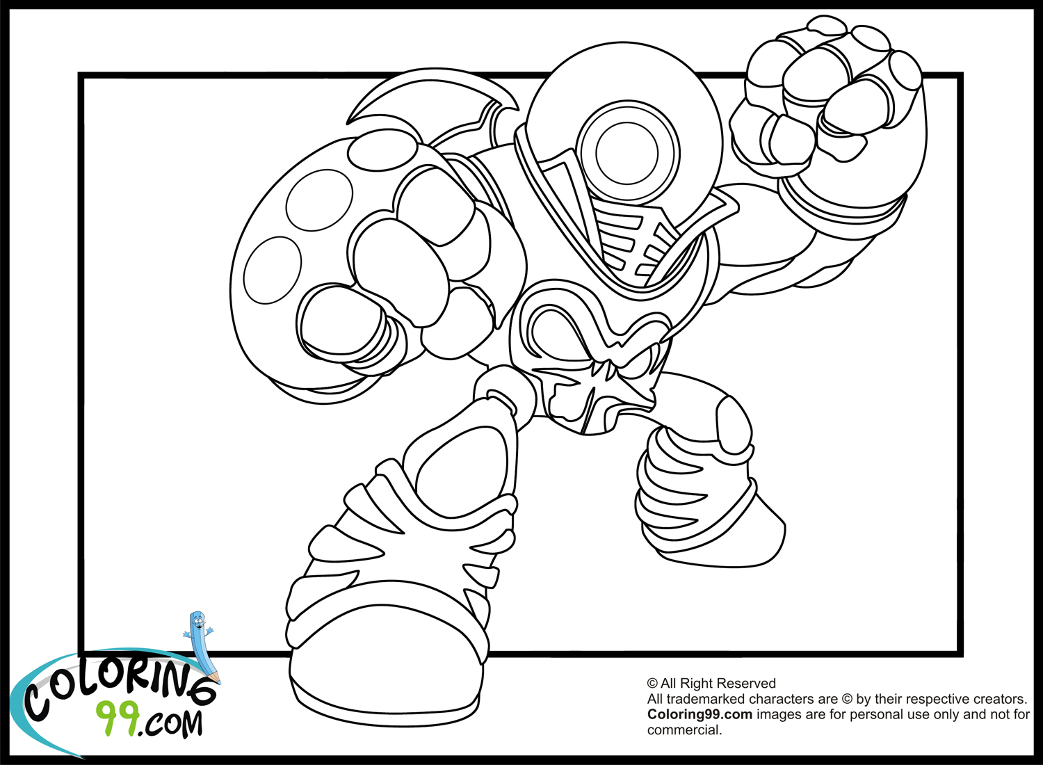 Skylander giant coloring pages download and print for free