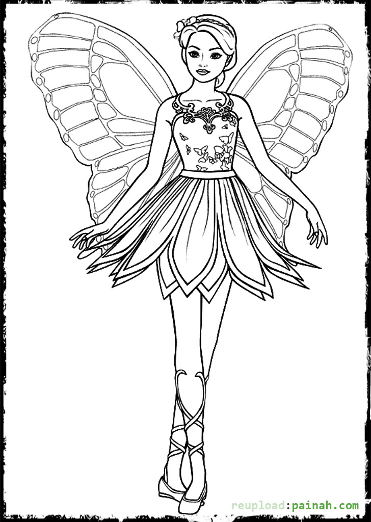 Fairy wing coloring pages download