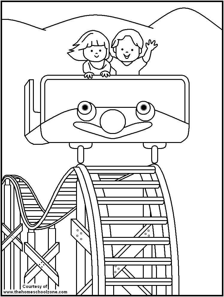 carnival coloring book pages - photo#7