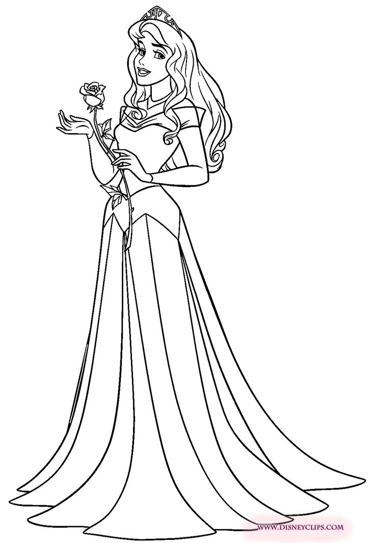 Aurora Disney Princess Coloring Pages Download And Print