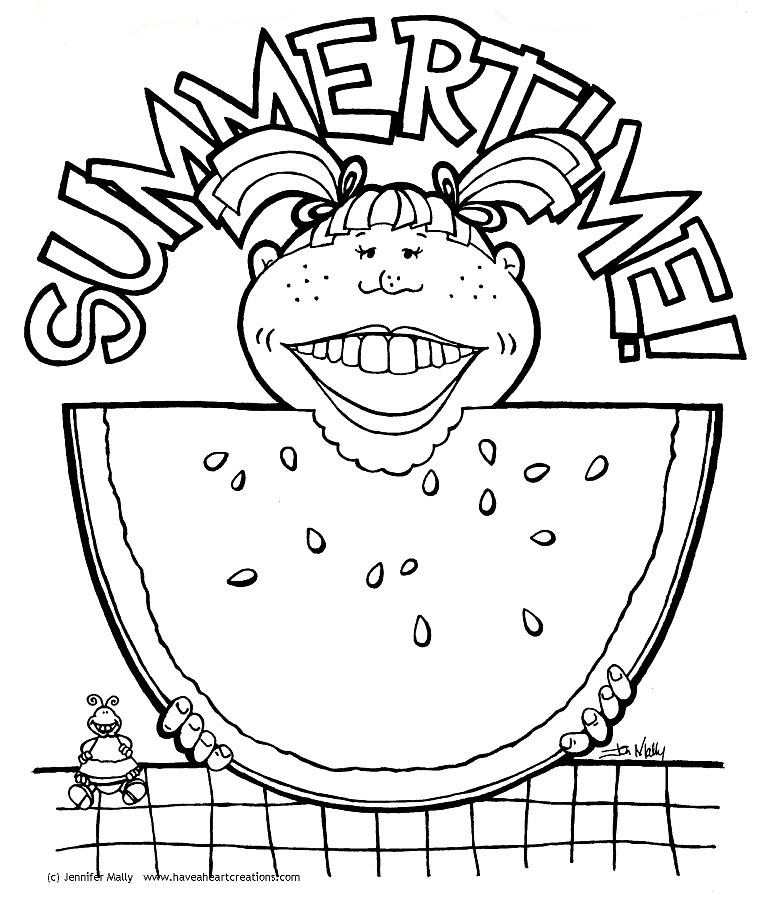 Summertime coloring pages to download