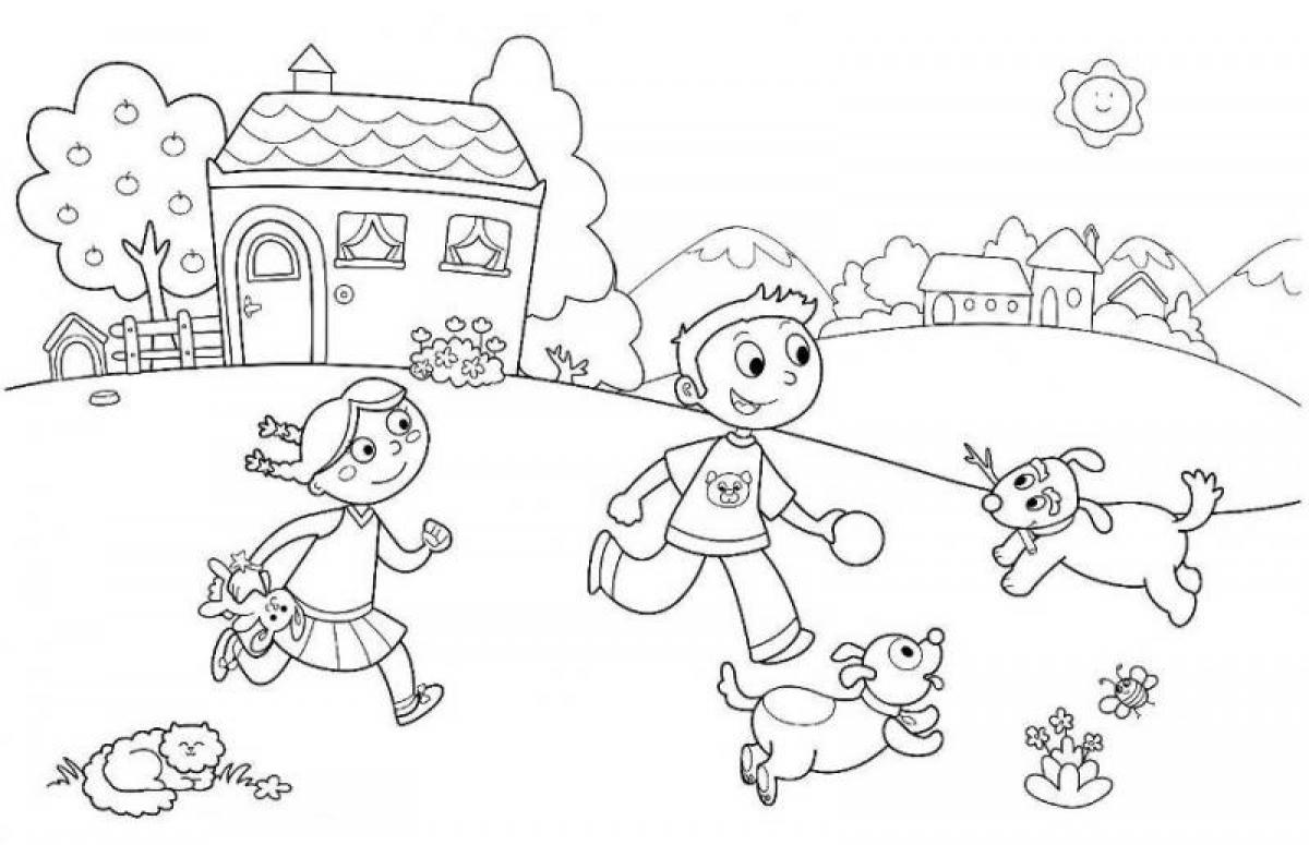 Summer fun coloring pages to download