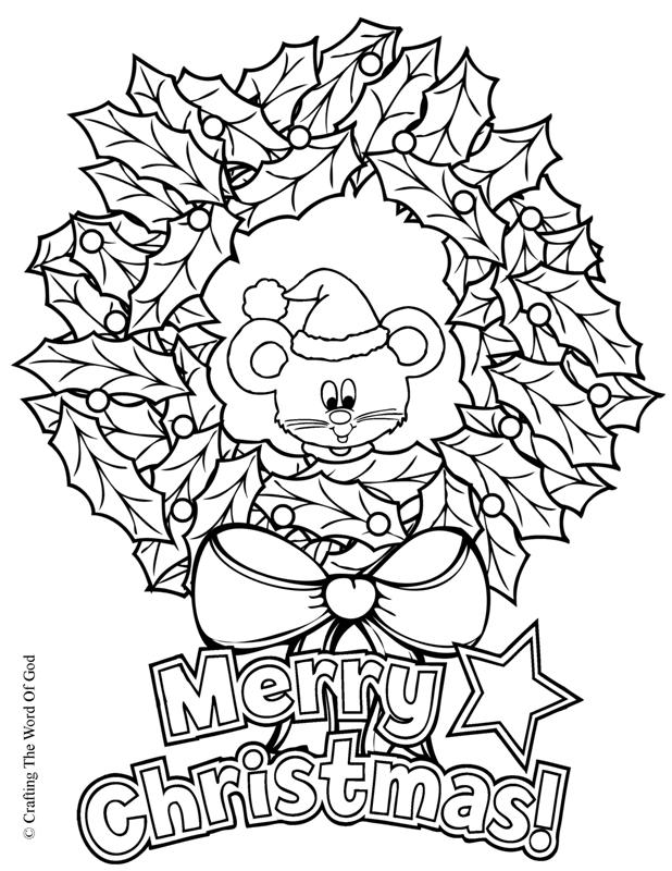 Wreath coloring pages download