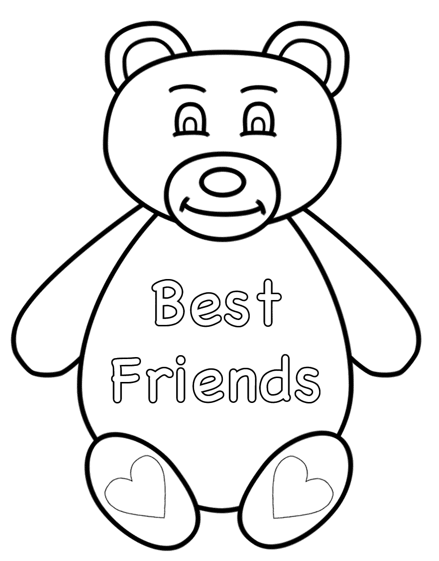 Best Website For Free Coloring Pages : Best friend coloring pages to download and print for free