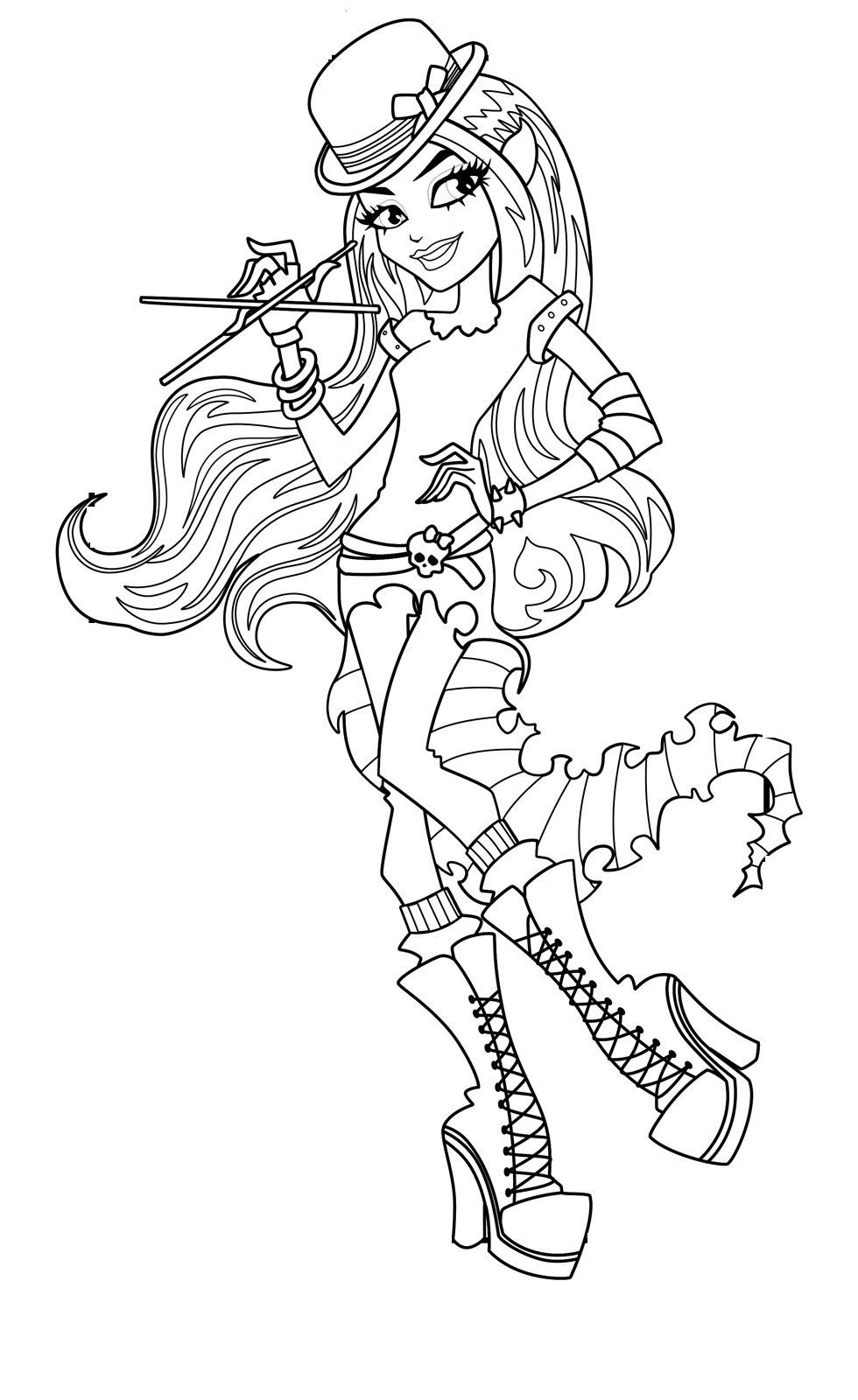 Chibi monster high coloring pages