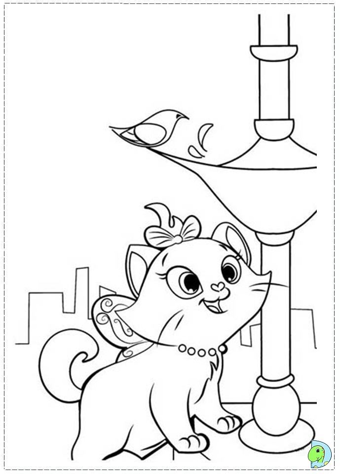 Disney Marie Cat Coloring Pages Download And Print For Free