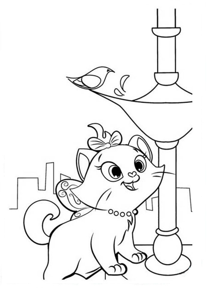 Marie cat coloring pages to download