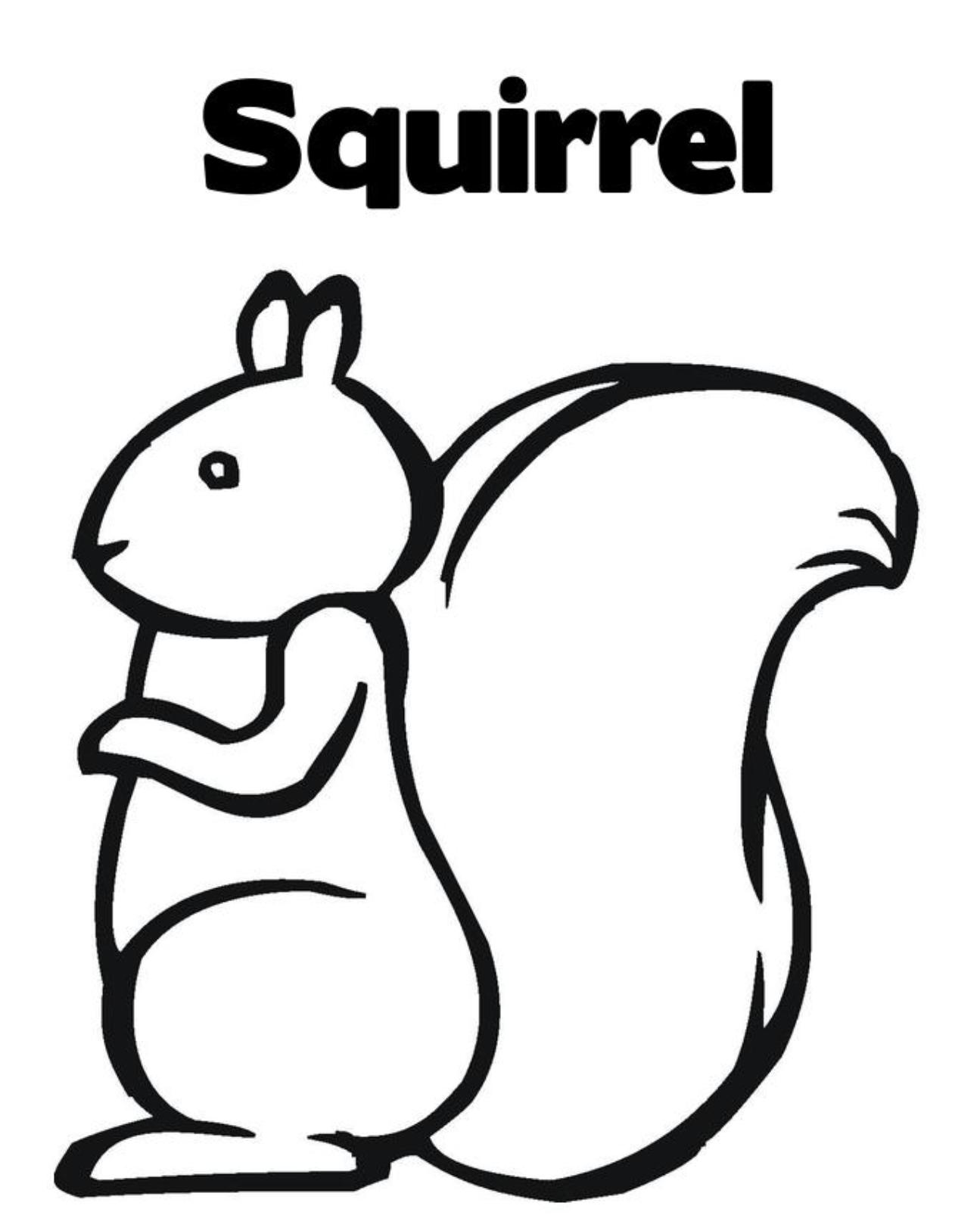 Squirrel coloring pages to download and print for free for Squirrel coloring pages free