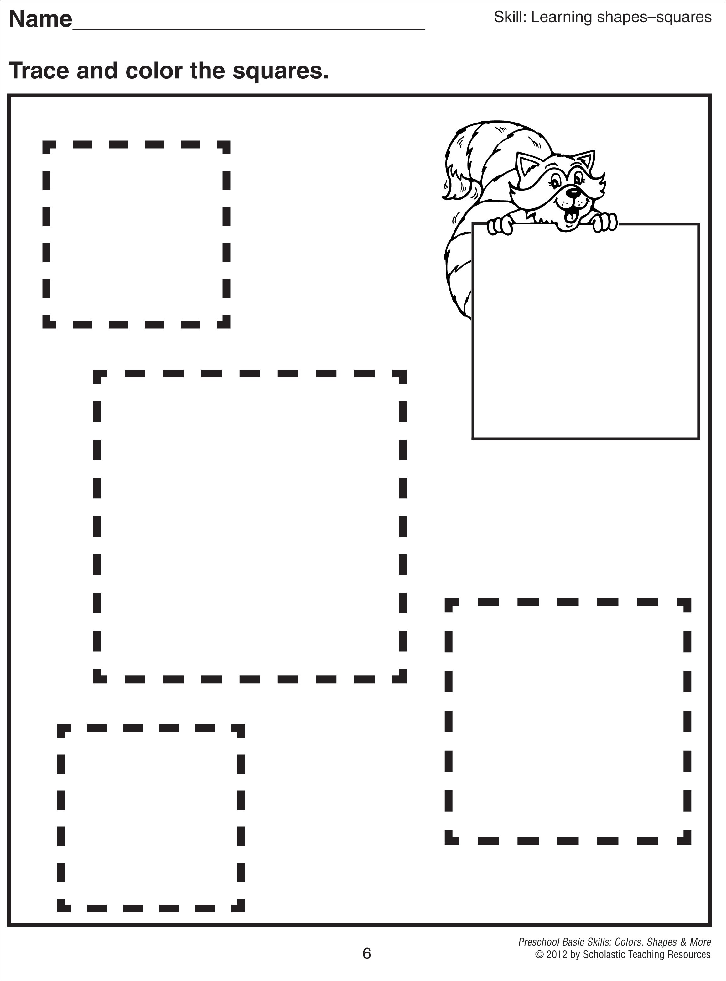 coloring pages for square shape - photo#28