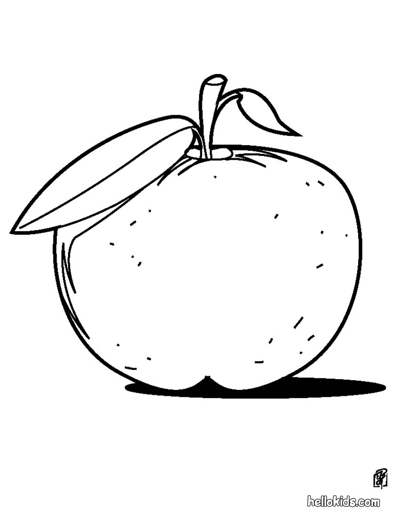Apples And Pumpkins Coloring Pages : Apples and bananas coloring pages download print for free