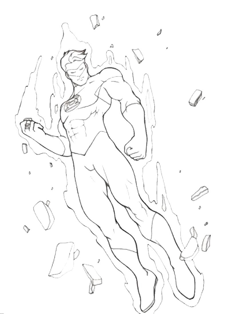 dc flash coloring pages - photo#23
